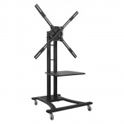 Telehook Mobile TV Cart with Tray [TH-TVCB]