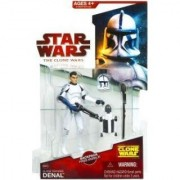 Star Wars 2009 Clone Wars Animated Action Figure CW-20 Clone Trooper Denal