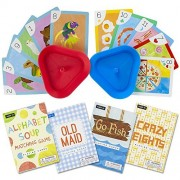 Set of 4 Classic Children's Card Games with 2 Hands-Free Playing Card Holders by Imagination Generation by Imagination Generation