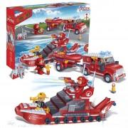 BanBao Fire Engine and Ship Set 8312