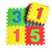30*30cm Mats Kids Soft Flooring Puzzle Mats for Children Jigsaw Mat EVA Foam Play Mat (10pcs Numbers) by Dudeybaba