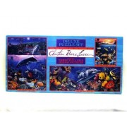 The Art Of Christian Riese Lassen Three Full Size Jigsaw Puzzles Deluxe Set, Jewels Of The Sea 100 Piece Mini Puzzle, Crystal Waters Of Maui 550 Pieces, Rainbow Sea 700 Pieces