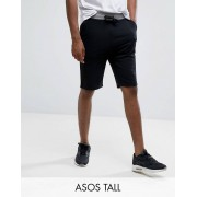 ASOS TALL Skinny Jersey Short with Contrast Waistband - Black (Sizes: S, M, L, XL, 2XL)