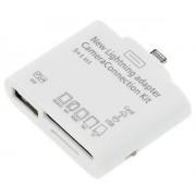 Kit connessione 5 in 1 connection camera LIGHTNING Apple IPAD 4 - MINI mini lettore card porta Usb micro SD