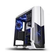 Gabinete Thermaltake Versa N21 con Ventana, Midi-Tower, ATX/Micro-ATX/Mini-ITX, USB 2.0/3.0, sin Fuente, Negro/Blanco