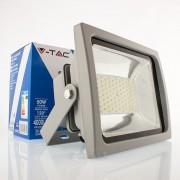 50W Projector Premium SMD Branco Quente 4000Lm corpo cinza