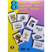 Sabloane pentru desen - Universul copilariei - Set A