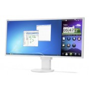 NEC MultiSync EA294WMi white 29' LCD monitor with LED backlight, IPS panel, resolution 2560x1080, 2xVGA, 2xDVI, DisplayPort, HDMI, speakers, 130 mm height adjustable