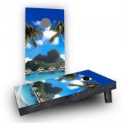 Custom Cornhole Boards Tropical Paradise Light Weight Cornhole Game Set CCB61-AW / CCB61-C