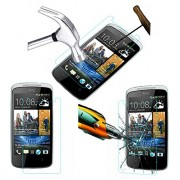 Acm Tempered Glass Screenguard For Htc Desire 500 Mobile Screen Guard Scratch Protector