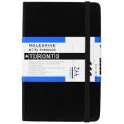 Moleskine City Notebook TORONTO Couverture rigide noire 9 x 14 cm