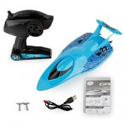 Vovotrade Remote Control Boats 2.4GHz Water Cooling High Speed Racing RC Boat Gift Toys (Blue)