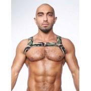 Mister B Urban Camo X Back Club Harness Costume Green 820542