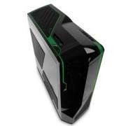 Boîtier PC Grand Tour Phantom (noir / vert) pour gamer