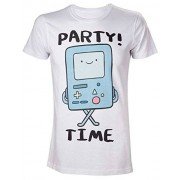 Adventure Time Beemo Party Time-camiseta Hombre Blanco blanco Medium
