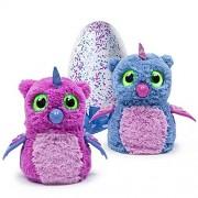 Hatchimals Hatching Egg Interactive Creature Owlicorn Baby Toy, Pink/Blue