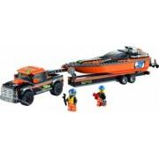 Set Constructie Lego City 4x4 Cu Barca Motorizata