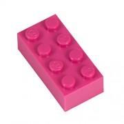 Q-Bricks 4 x 2-Stud Building Blocks flojo Pack (500 piezas, Magenta)