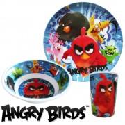 Angry Birds melamin étkészlet