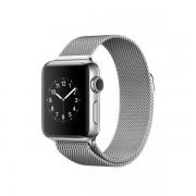 Apple Watch Series 2 con caja de acero inoxidable de 38 mm y correa estilo milanés color plata