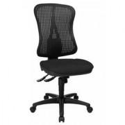 Hjh Sedia ergonomica SALMA 40, schienale regolabile e seduta imbottita, uso 8 ore, in rete e tessuto nero