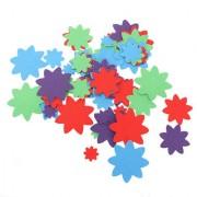 Magideal 50Pcs Adhesive Felt Shapes For Craft Felt Board Applique Felt Die Cut Flower