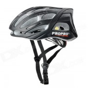 PROPRO BHM-002M Outdoor Sports Bicycle Cycling Helmet w/ Safety Red 3-LED 2-Mode Tail Light - Black