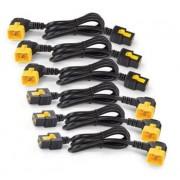 APC Power Cord Kit 6 ea, Locking, C19 to C20 90 Degree, 1.2m