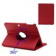 Capa Rotativa em Pele para Samsung Galaxy Tab 3 10.1 P5200, P5210 - Vermelho