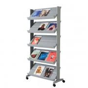 Espositore mobile Paperflow - alluminio - 82,5x38,2x165 cm - 255N.35 - 889628 - Paperflow