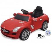 vidaXL Електрическа кола Mercedes SLS AMG, червена, 6V с дистанционно