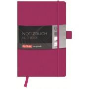 Bloc notes A5, matematica, coperta din piele sintetica cu elastic, 96 file, mov, HERLITZ My Book Classic