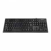 Tastatura A4Tech KRS-85, cu fir, US layout, neagra, Rounded key-caps, Laser inscribed keys, PS/2