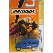 Matchbox 2008 Mbx #83 Desert Adventure '97 Land Rover Defender 110 Blue New