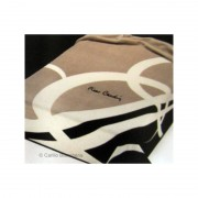 Calda coperta Plaid effetto pelliccia matrimoniale Pierre Cardin - beige D577