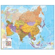Wandkaart Azië Politiek, 120 x 100 cm | Maps International