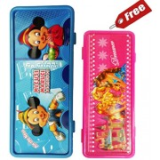 Buy Disney printed Pencil Box and Get FREE Barbie Pencil Box (BUY 1 GET 1 FREE)