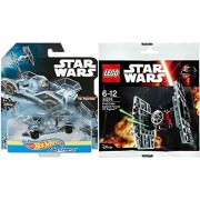 Hot Wheels Star Wars Carships 2-Pack Tie Fighter & Lego First Order Special Forces Buildable Tie Fighter bundle