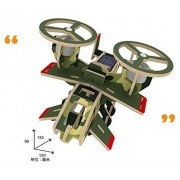 Sunnytech1pc Solar Energy Diy Kit Aircraft Wood Plane Child Educational 3d Wooden Jigsaw Puzzle Toy(P350)