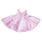 Purple And Silver Heart Dress Clothes Fits 8 - 10 Stuffed Animal Kits & Most Webkinz & Shining Star Animals