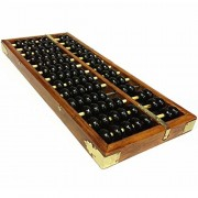 Happy Will Vintage Chinese Wooden Abacus Soroban Arithmetic Calculating Tool with Stylus