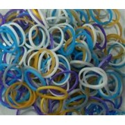 Elastice Rainbow Loom - Metalic Mix2-300 Buc