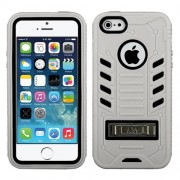 Funda Protector Mixto Apple Iphone 5/5S Gris/Negro eNuff c/pie