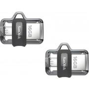 SanDisk Ultra Dual Drive SDDD3-016G-I35 16 GB Pen Drive(Multicolor)