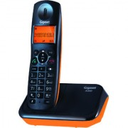 Gigaset A450 Black orange cordless landline phone