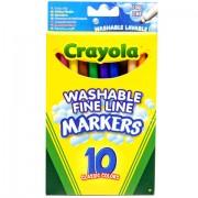 10 db vékony lemosható filctoll - Crayola