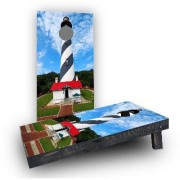 """Custom Cornhole Boards St. Augustine Lighthouse Cornhole Game CCB145 Bag Fill: All Weather Plastic Resin, Size: 48"""""""" H x 12"""""""" W"""