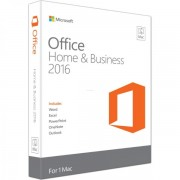Microsoft Office Home and Business 2016 pentru MAC, 32/64bit, Limba Engleza, FPP/Medialess