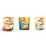 Pack de 12 unidades con 3 sabores de Arroz Pollo, Queso y champiñones