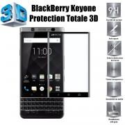 Blackberry Keyone Vitre Protection D'ecran En Verre Trempé Incassable Protection Integrale Full 3d Tempered Glass Pour Blackberry Keyone